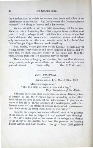 News-Letters: Iota Chapter, March 20, 1882 (image)