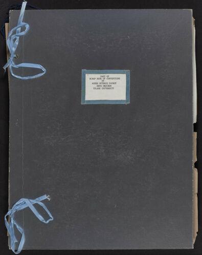 Agnes Favrot Convention Scrapbook Part I, 1904-1972