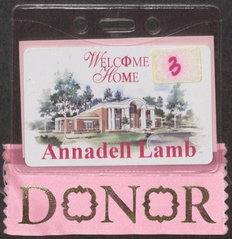 Annadell Lamb Headquarters Dedication Ceremony Nametag, September 24, 2005 (Image)