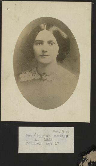 Mary Myrick Daniels Portrait, 1853 (Image)