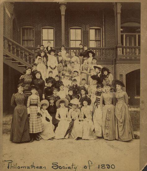 Philomathean Society Group Photograph, 1890 (Image)
