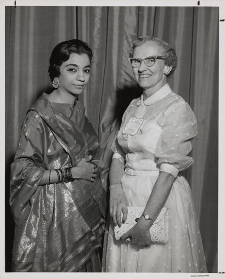 Firoza Ahmed and Louise Lane Moore at Convention Photograph, 1960 (image)
