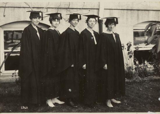 Iota Sigma Members at Graduation, 1917 (Image)