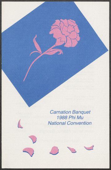Carnation Banquet Program, July 4, 1988 (image)