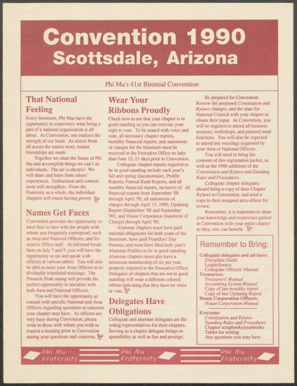 Convention 1990 Newsletter, 1990 (image)