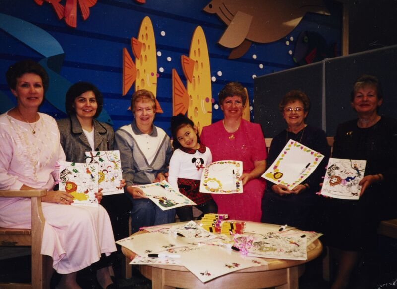 1998 California Alumnae with Child at Children's Hospital in Los Angeles Photograph Image