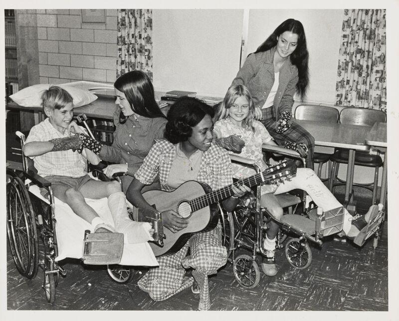 Delta Theta Members at Children's Hospital Photograph Image