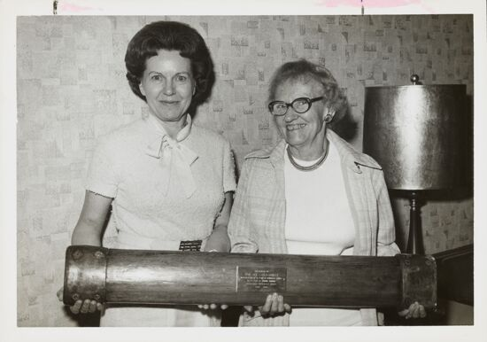National and Foundation Presidents Receive Railing from S.S. Hope Photograph, 1974 (image)