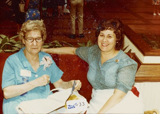 Mary Jane Johnson and Loretta Fowler Bennett at Convention Photograph, 1982 (image)