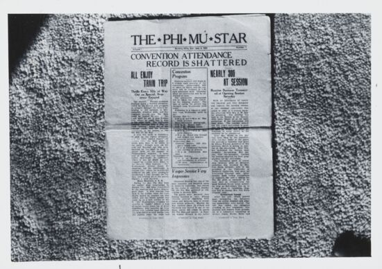 The Phi Mu Star, Vol. 1, No. 1 Photograph (image)