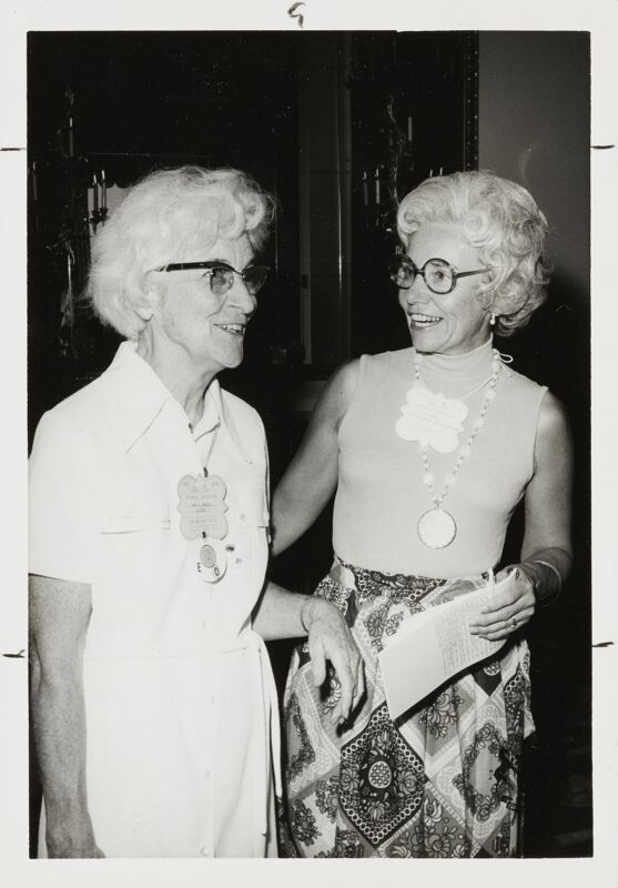 1974 Ruth Winters and Dorothy Perkins Campbell at Convention Photograph Image