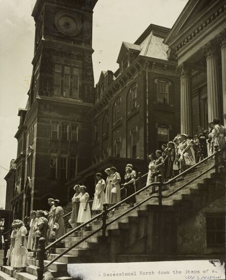 Convention Recessional March at Wesleyan College Chapel Photograph, 1952 (image)