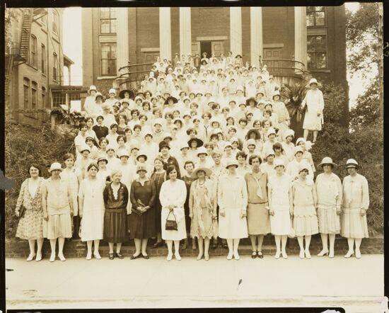 Convention Delegates at Pierce Chapel Photograph, 1927 (image)