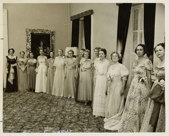 Philomathean Tea Receiving Line Photograph, 1952 (image)
