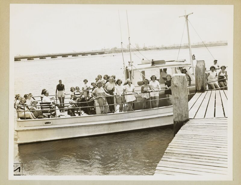 Convention Attendees on Boat Photograph, 1950 (Image)