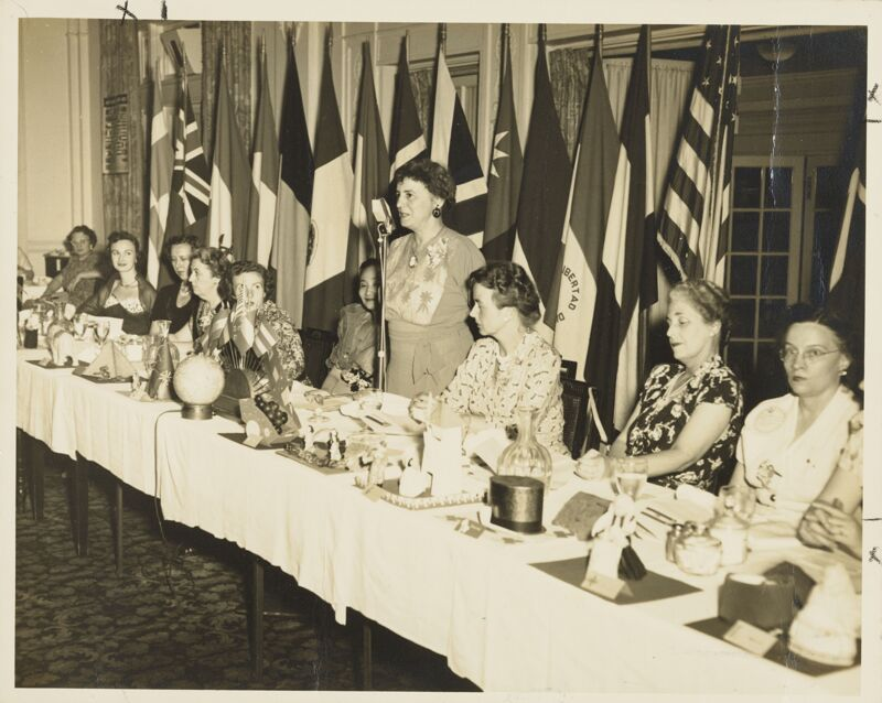 Head Table at Social Service Dinner Photograph, 1950 (Image)