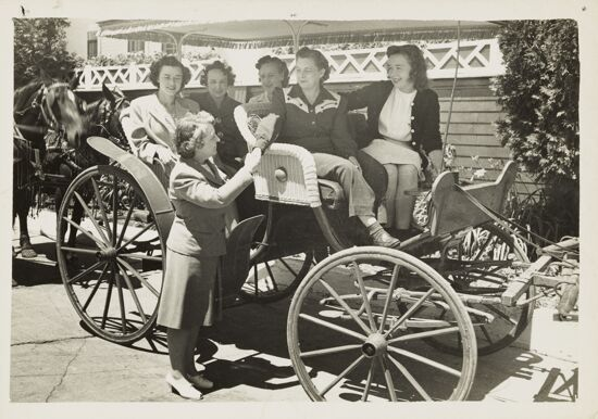 Convention Attendees in Carriage Photograph, 1946 (image)