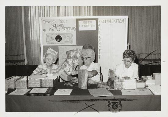 Foundation Booth at Mackinac Convention Photograph, 1974 (image)