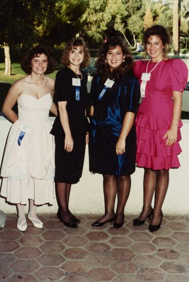 Formal Group of Four at Scottsdale Convention Photograph, 1990 (image)