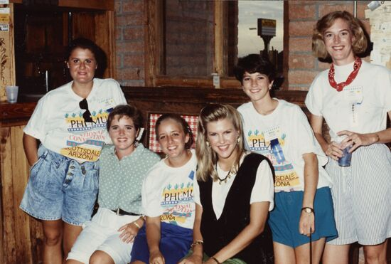 Casual Group of Six at Scottsdale Convention Photograph, 1990 (image)