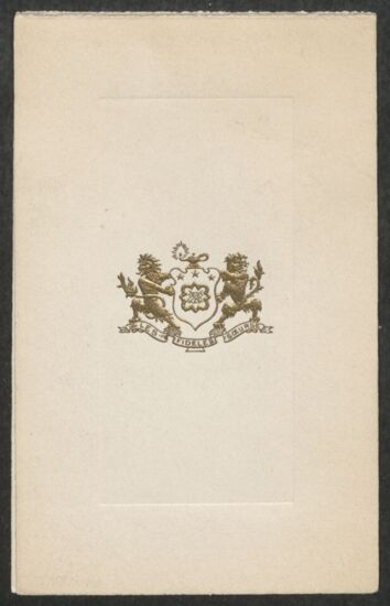 Psi Chapter Annual Dance Program, March 3, 1916 (Image)