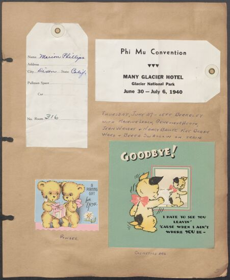 Marion Phillips Convention Scrapbook, Page 1 (Image)