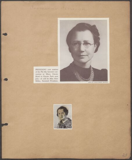 Marion Phillips Convention Scrapbook, Page 30 (Image)