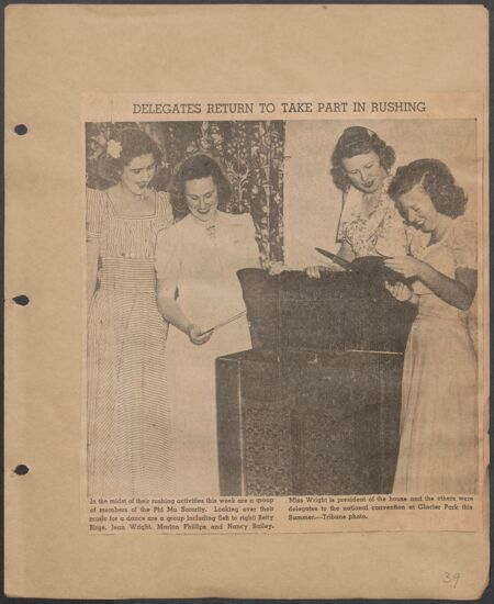 Marion Phillips Convention Scrapbook, Page 35 (Image)