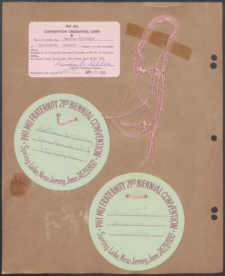 Marion Phillips Convention Scrapbook, Page 37 (image)