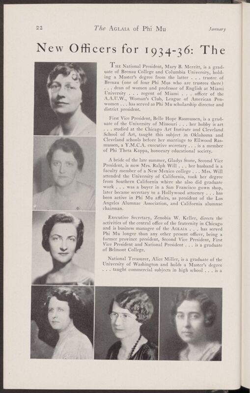New Officers for 1934-36: The National and General Councils (Image)