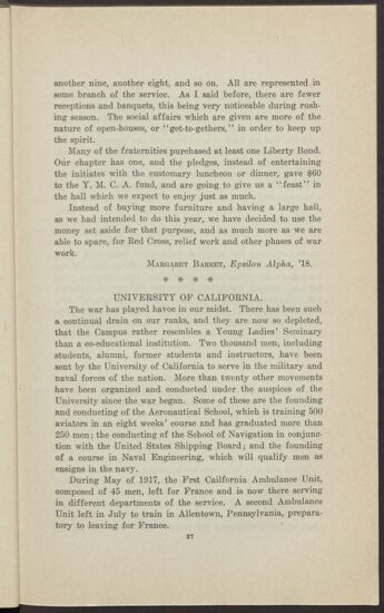War and the Colleges - University of California (Image)