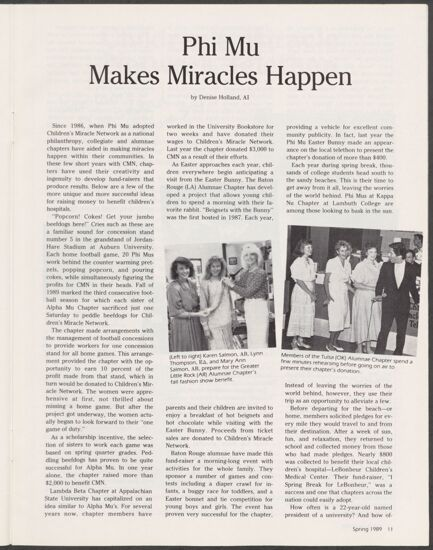 Phi Mu Makes Miracles Happen (image)