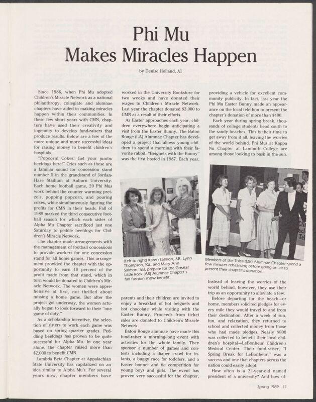 Phi Mu Makes Miracles Happen Image