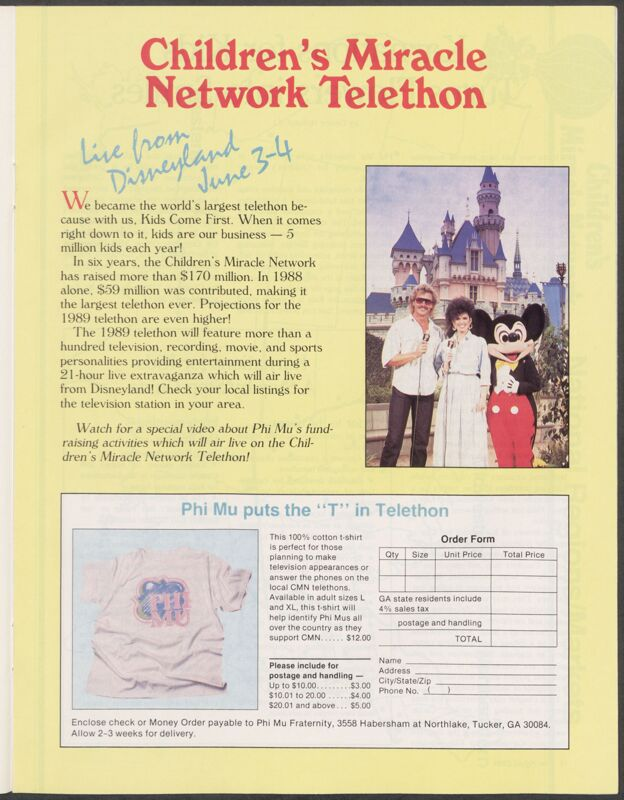 Children's Miracle Network Telethon Advertisement Image