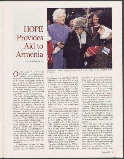 HOPE Provides Aid to Armenia (image)