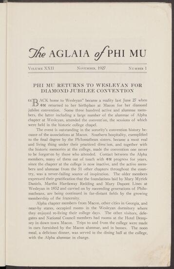 Phi Mu Returns to Wesleyan for Diamond Jubilee Convention (image)