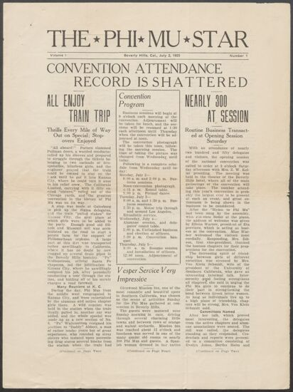 1923 National Convention Image