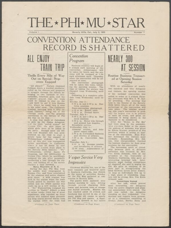 1923 National Convention