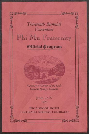 1931 National Convention Image