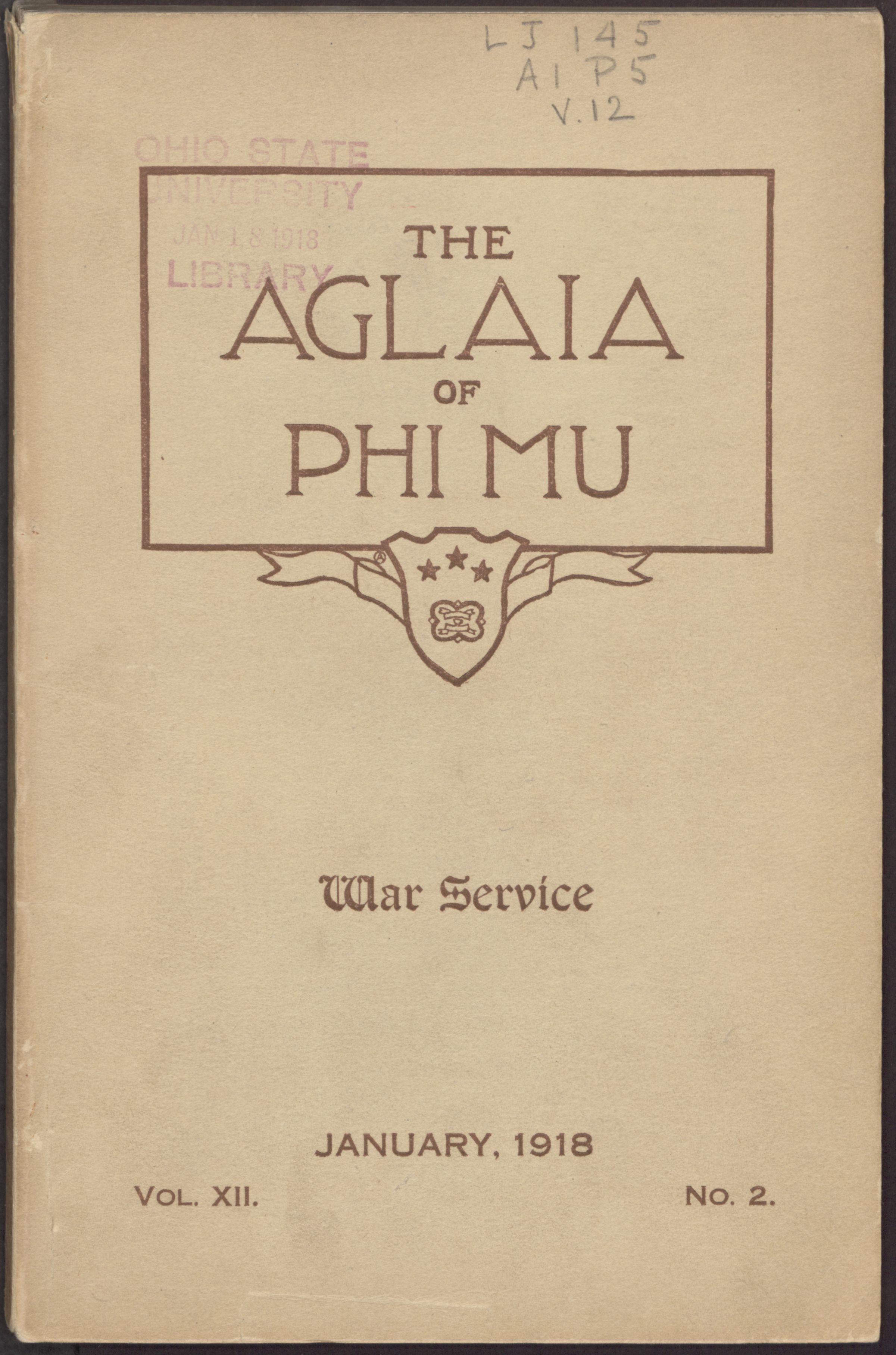 The First Issue of The Aglaia is Published, May 1907 Image