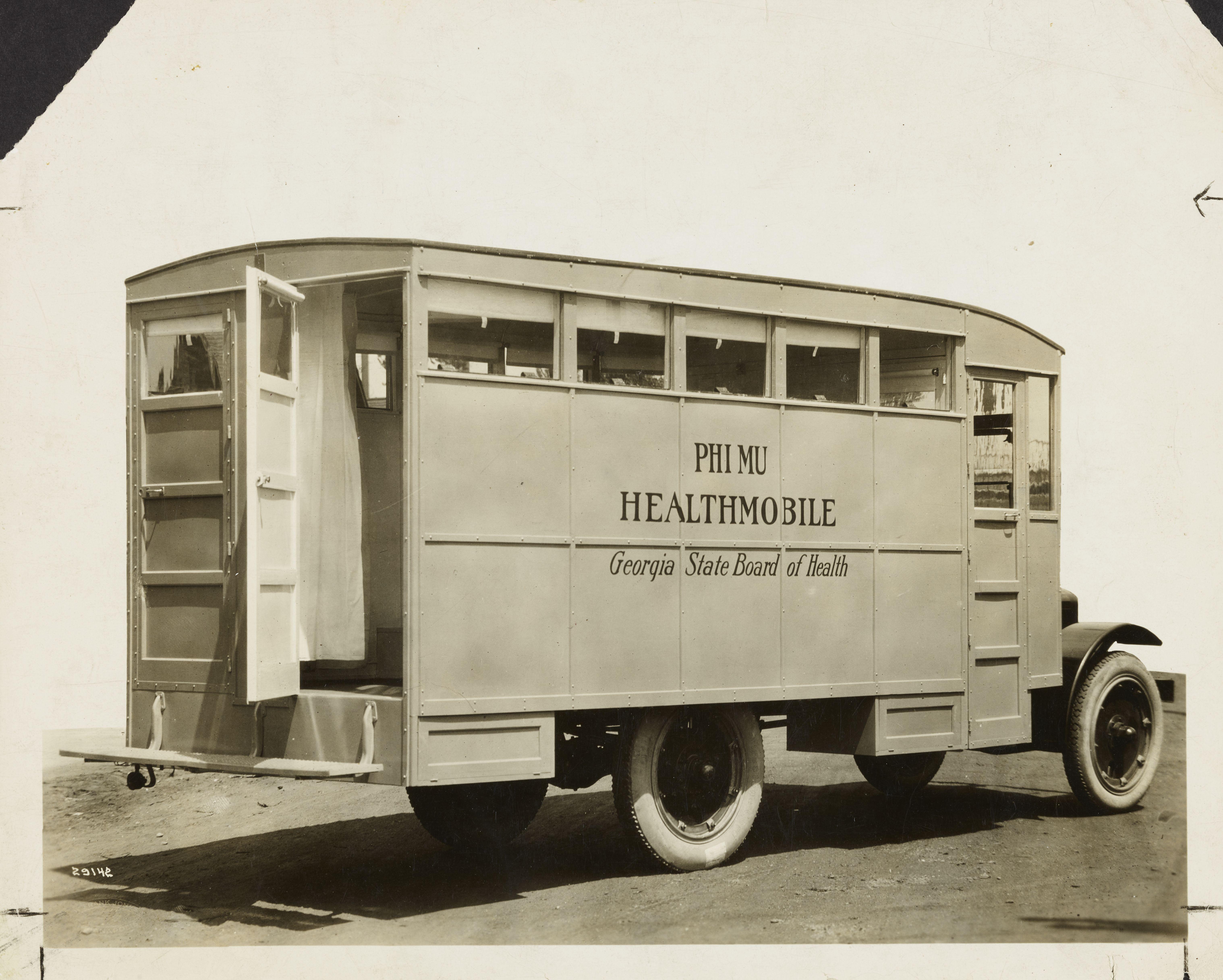 Phi Mu Healthmobile Introduced, 1921 Image