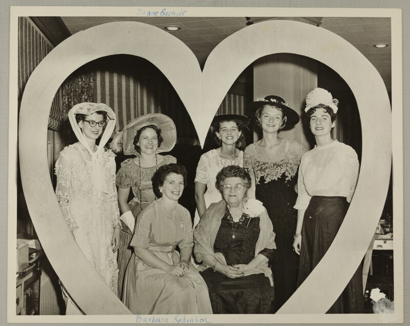 Seven Phi Mus in Convention Skit Photograph, June 16-20, 1958 (Image)