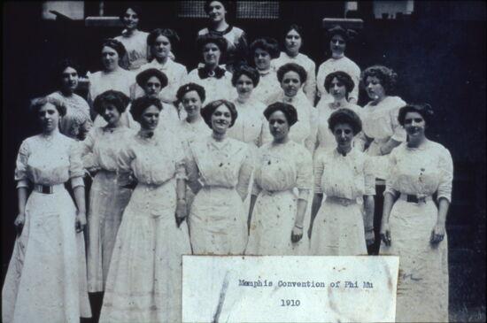 Convention Attendees Slide, June 21-24, 1910 (Image)