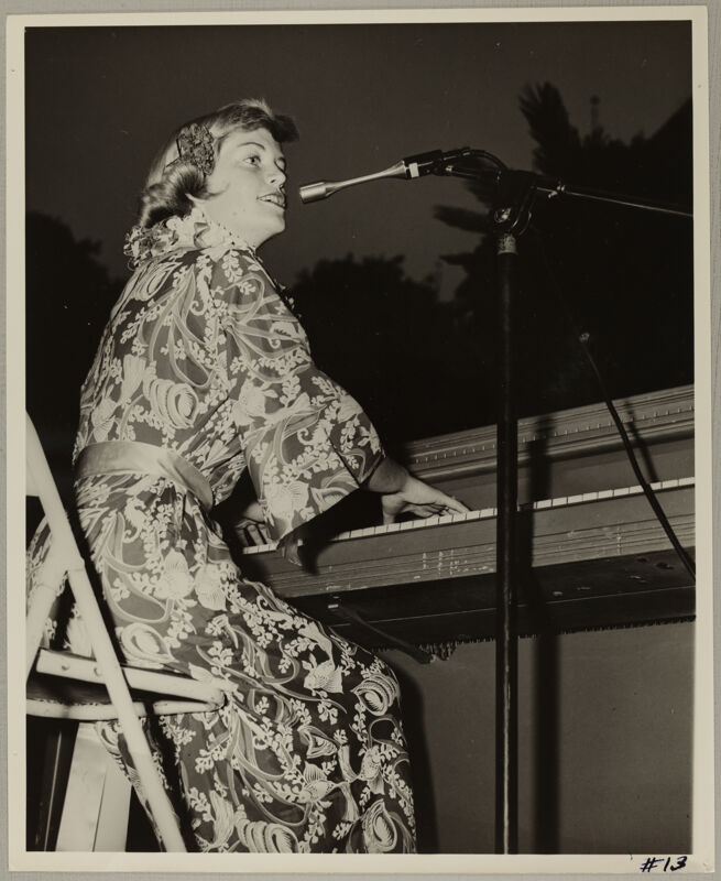Singer Performing at Convention Photograph, July 11-16, 1954 (Image)