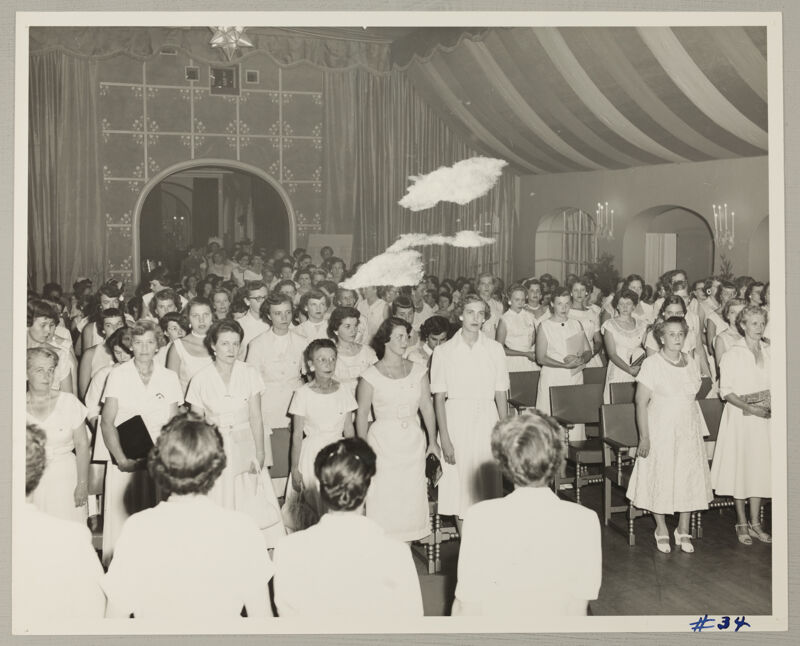 Convention Opening Session Processional Photograph, July 11-16, 1954 (Image)
