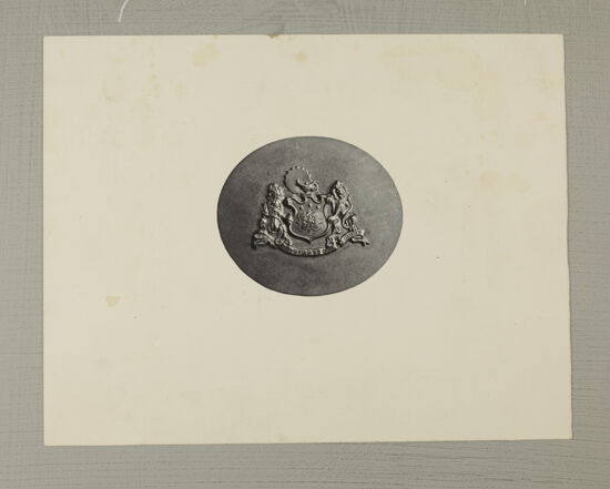 Coat of Arms Brooch Photograph, 1910 (Image)