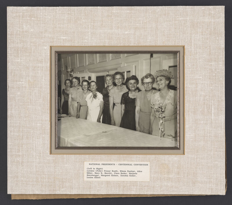 National Presidents at Convention Photograph, June 23-28, 1952 (Image)