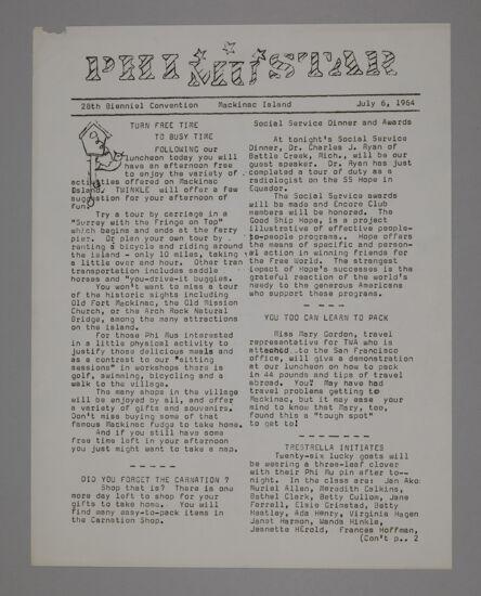 Phi Mu Star, July 6, 1964 (image)