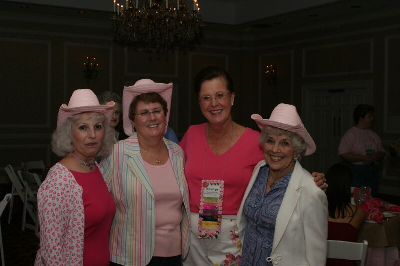McCarty, Henson, and Two Unidentified Phi Mus at Convention 1852 Dinner Photograph, July 14, 2006 (Image)