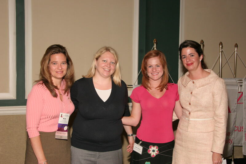 MacMullan, Schmeal, and Two Unidentified Phi Mus at Friday Convention Session Photograph 2, July 14, 2006 (Image)